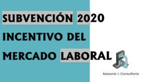 subvención 2020